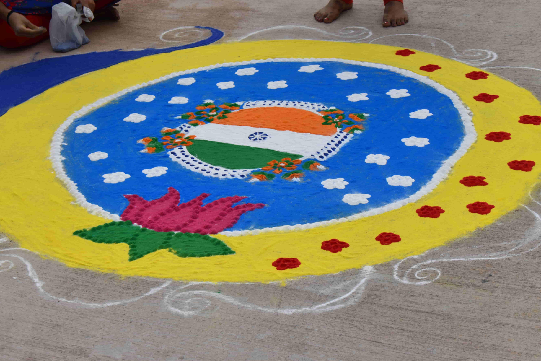 Rangoli Competition at JIMS