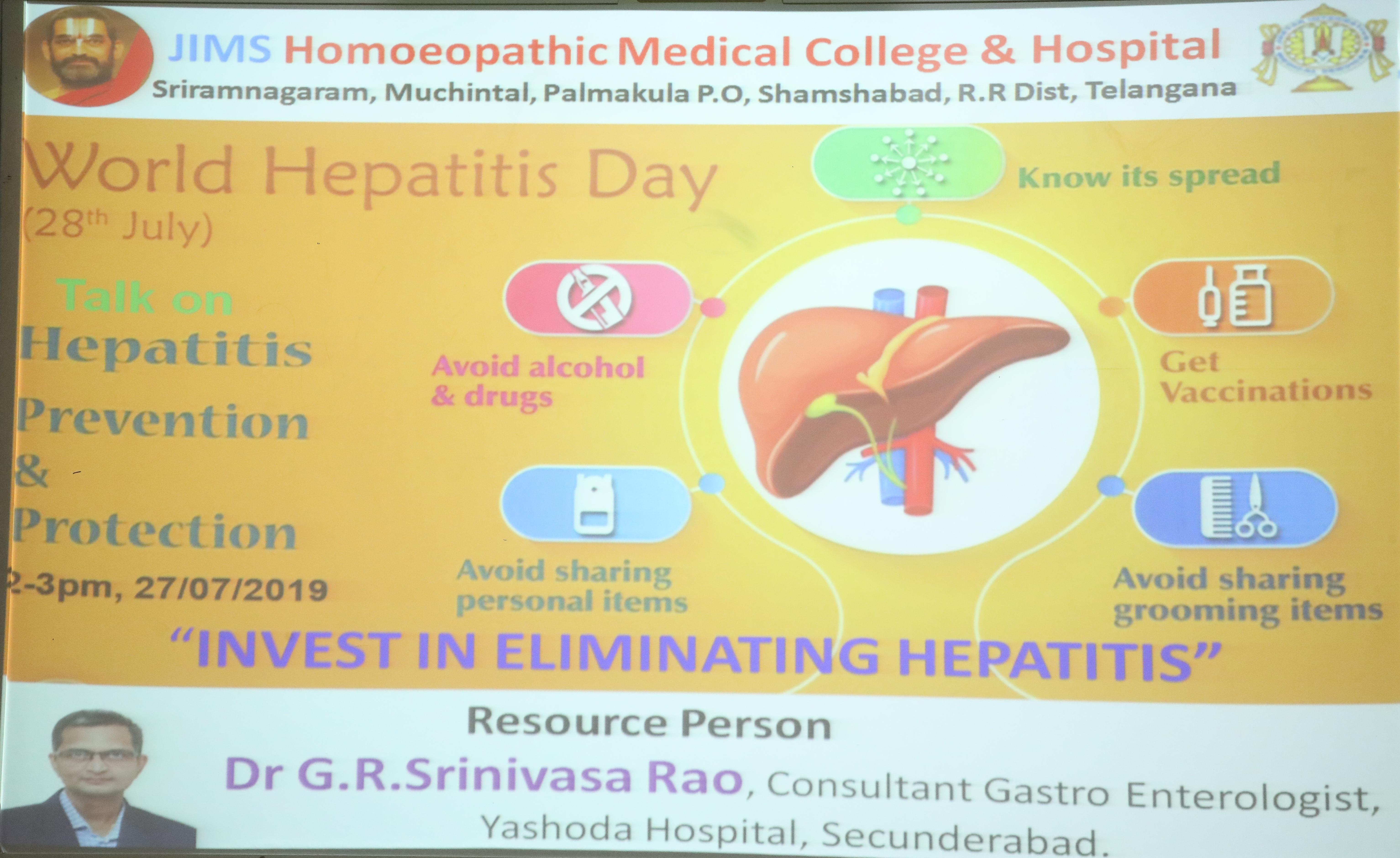 World Hepatitis Day – July 2019