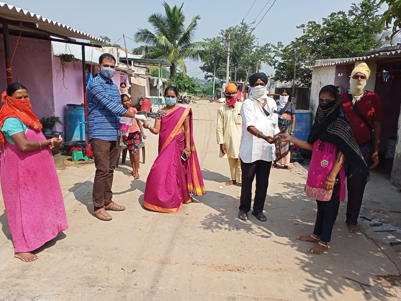 IEC poster sticking, Rally and Medicine Distribution programme at Madanapalli, Gachubhai thanda. Gachubhai thanda is come under Madanapalli as hamlet village