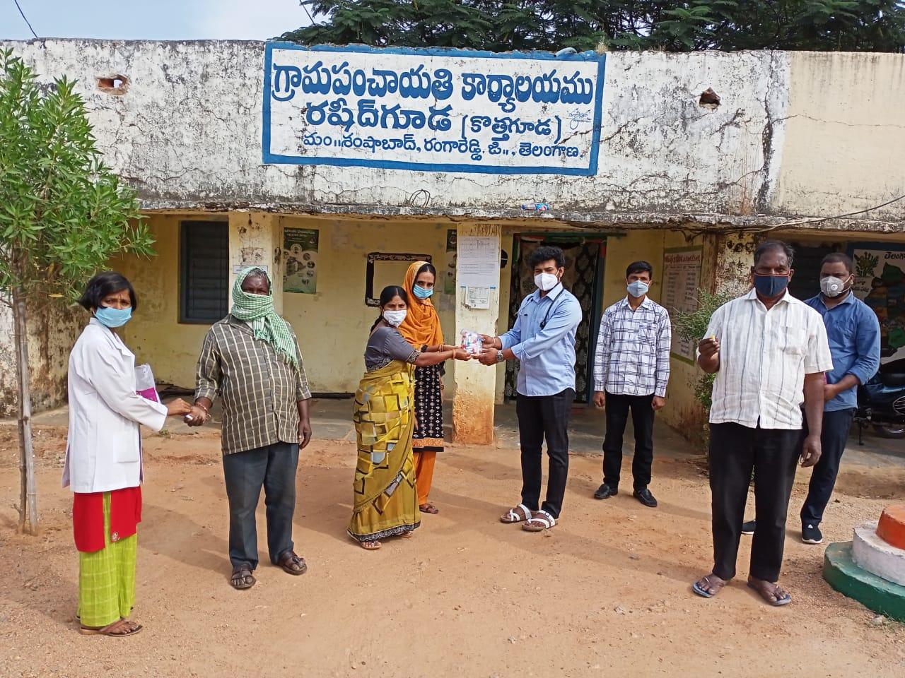 Janandolan Campaign On COVID 19 – Rally & Medicine distribution programme at Rasheedguda & Poshettiguda of Shamshabad Mandal.