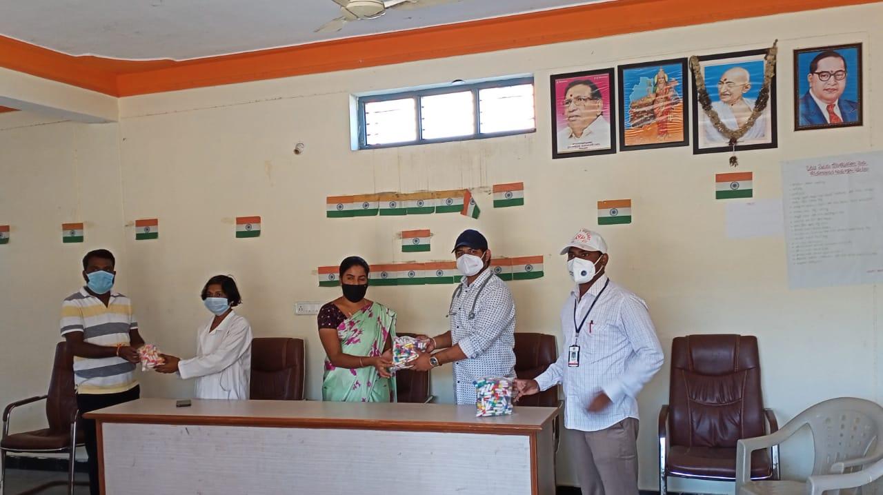 Janandolan Campaign On COVID 19 – Rally and Medicine distribution programme at Appareddyguda village of Nandigama Mandal.