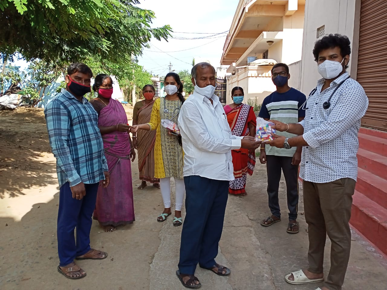 Janandolan campaign – Awareness rally and Booster dose distribution programme at Gollur and Gollur thanda Village.