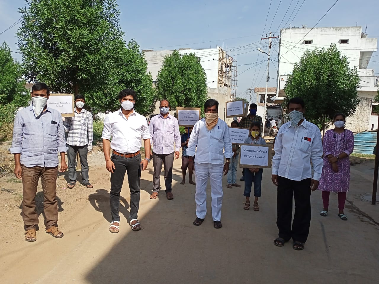 Janandolan campaign – Awareness rally and booster dose distribution programme at Pedda Golconda of Shamshabad mandal.