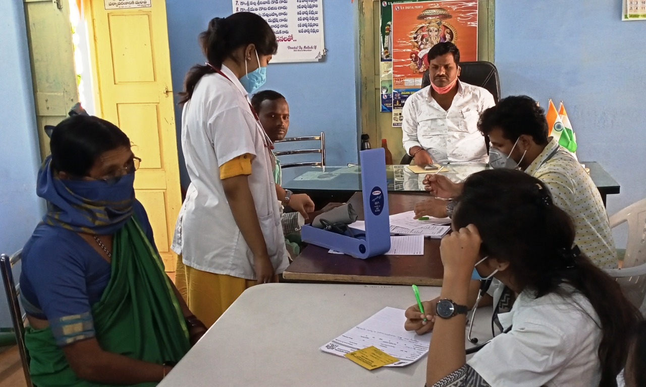 The Medical Camp was organised at Gummadavelly